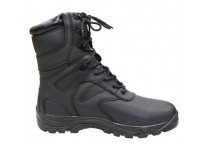 Men's Black Genuine Leather Waterproof Military boots