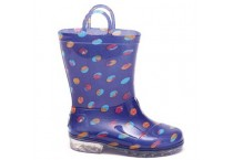 Blue Dots Kids clear PVC Rain Boots