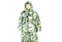 Breathable Mesh Snow white Ghillie Suit