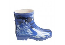 Fashion Blue Children Side Strap Rubber Rain Boots