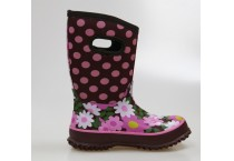 Kids Cute Polka Dot Printing Neoprene Warm Boots