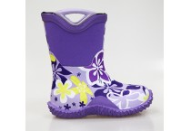 Girls Purple Neoprene Boots With Rubber Handle