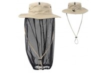 Head Net Hat Boonie Hat With Hidden Net Mesh Mask For Fishing