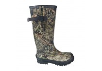 High Quality Knee High Mens Waterproof Camo Rubber Rain Boots With Adjustable Waterproof Gusset