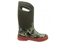 Kids Classic Camo Waterproof Winter Rain Boot