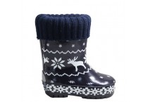 Kids Winter Season Rain Boots With Warm Liner