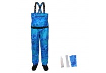 Waterproof Stockingfoot Chest Waders With Zippered Pockets
