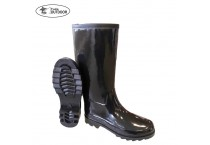Women's Shiny Waterproof Rubber Wellington Rain Boots