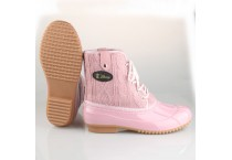 Women's Warm Pink Snow Duck Boots