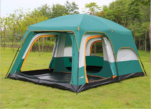 8 people Family Camping Tent 2 rooms 1 drawing room China